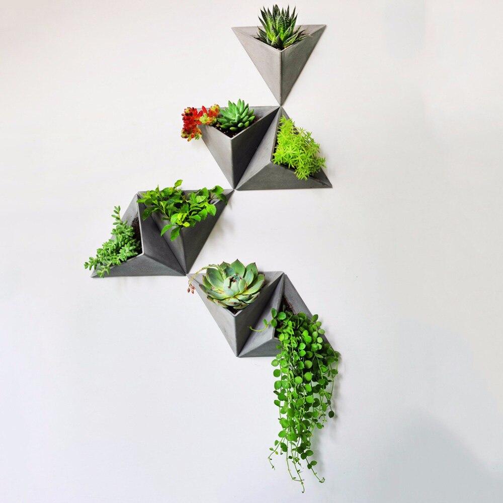 สามเหลี่ยมแม่พิมพ์ซิลิโคนแขวนผนังซีเมนต์กระถางดอกไม้แม่พิมพ์ซิลิโคนคอนกรีตหม้อแม่พิมพ์-ใน แม่พิมพ์เค้ก จาก บ้านและสวน บน   1