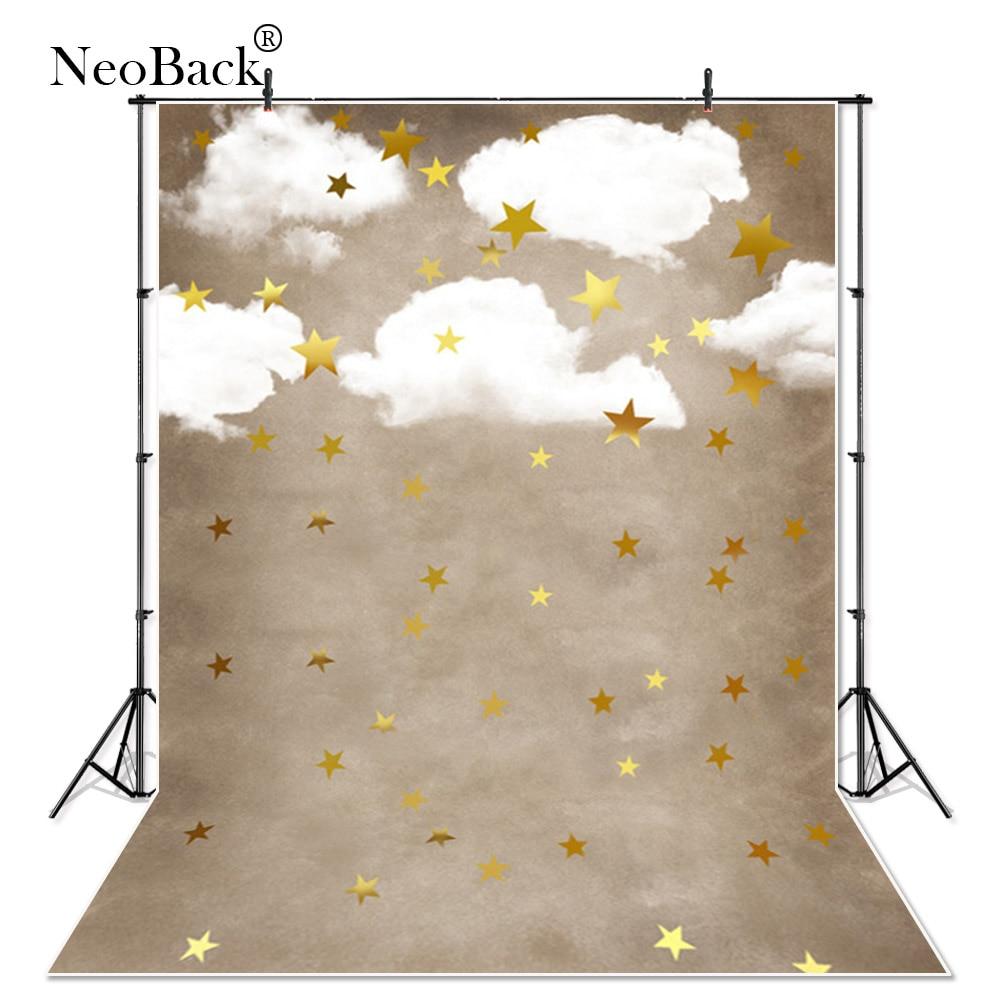 NeoBack Thin vinyl cloud star New Born Photography Backdrop children kids backdrops Printing Studio Photo backgrounds A3648
