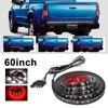 60 Red White Tailgate LED Strip Light Bar Truck Reverse Brake Turn Signal Tail For