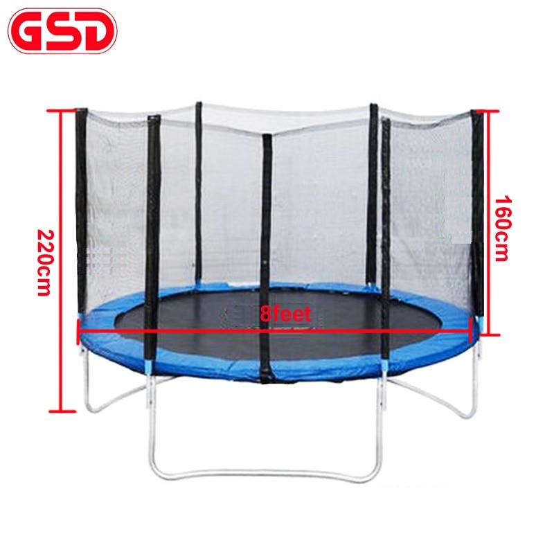 GSD 8 Fuß Federtrampolin Mit Leitersicherem Netz 2,45 m Durchmesser Sprungbett TÜV-GS wurde genehmigt