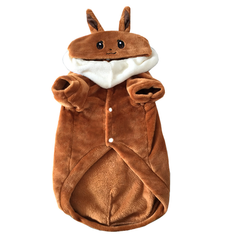 Cute Pokemon Eevee big large dog costume hoodie winter warm fleece dog coat jacket golden retriever Labrador funny dog clothes-in Dog Hoodies from Home ...  sc 1 st  AliExpress.com & Cute Pokemon Eevee big large dog costume hoodie winter warm fleece ...