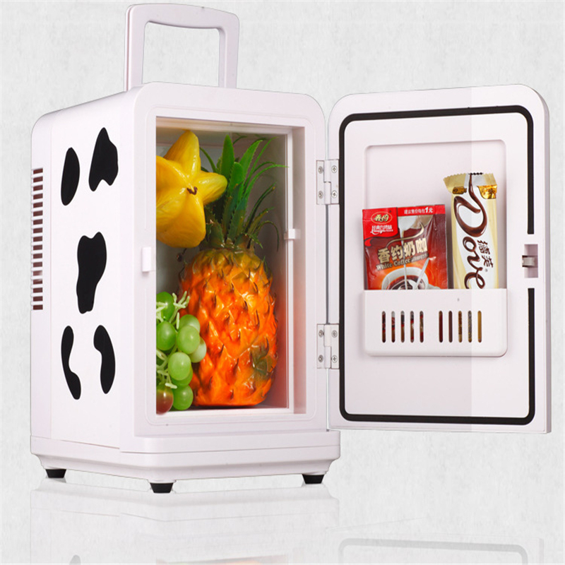 4L Cold And Heat DC12V/AC220V Mini Refrigerator Portable For Student Household Dormitory Using