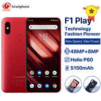 "UMIDIGI F1 Play Android 9.0 Cell Phone 6GB RAM 64GB ROM 48MP+8MP Cameras Mobile Phone 5150mAh 6.3"" FHD+ Helio P60 4G Smartphone"