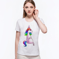 Hot Sales Character Horses Fashion Ink Painting Horse Pattern Casual Round Collar Short Sleeve T Shirt