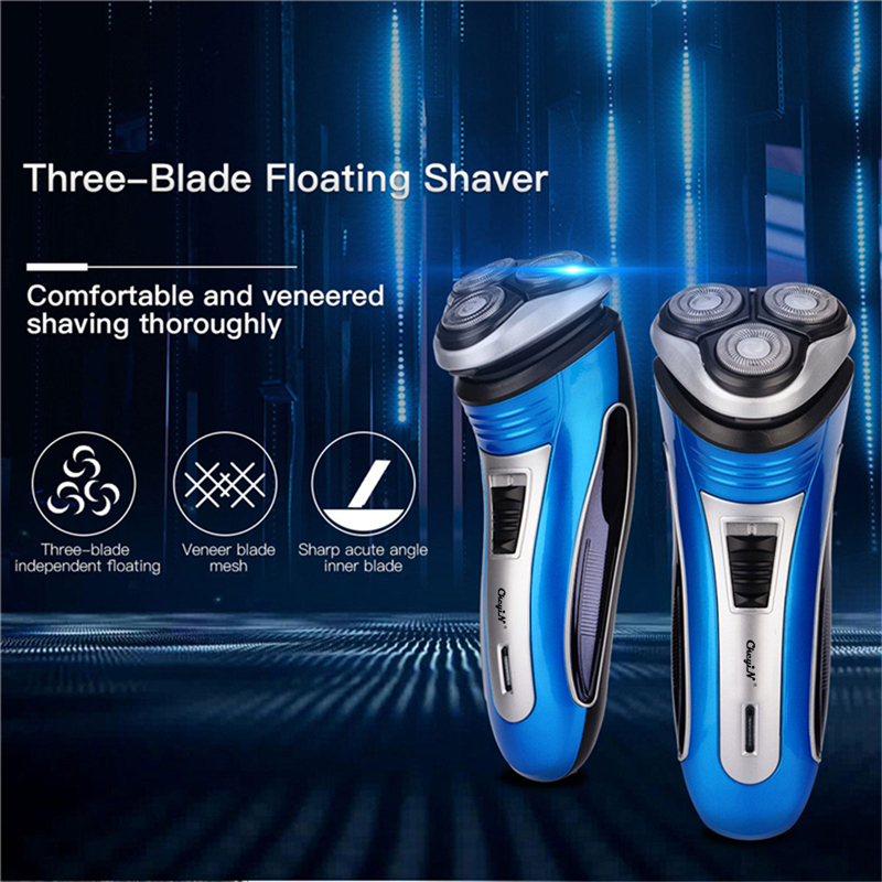 High Quality Electric Shaver Smart 3D Triple Floating Blade Rechargeable Shaving Razors Men Beard Precision Trimmer Machine P00