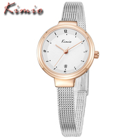 Relojes Mujer 2016 KIMIO Ladies Watches Top Brand Luxury Women Dress Business Stainless Bracelet Quartz Watch