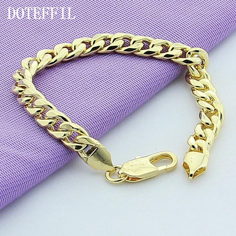 Sideways Chain ID Cuff 8mm Bracelet Men s