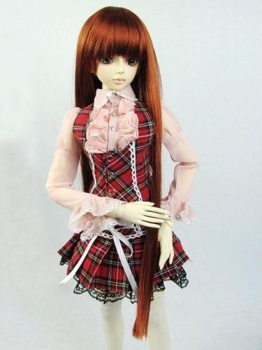 [wamami] 290# Red Plaid Dress/Shirt/Suit 1/4 MSD DOD BJD Dollfie
