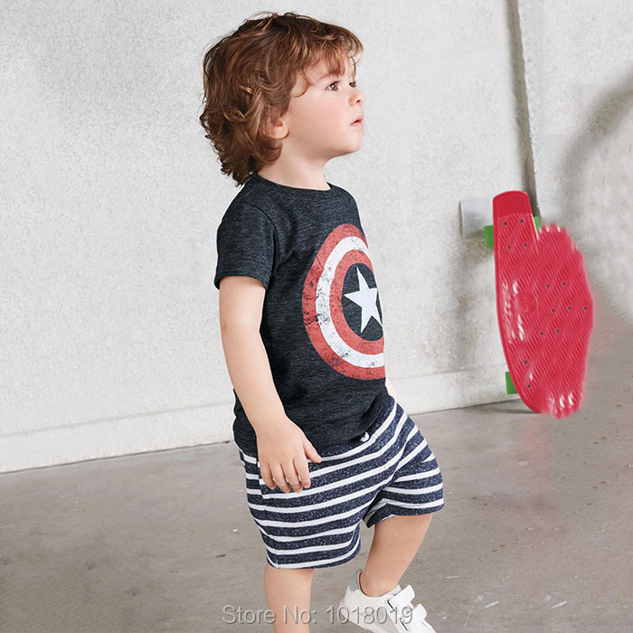 New 2018 Summer Baby Boys Clothes Sets Brand Quality 100% Cotton Children Clothing Set Kids Short Sleeve t-shirt Clothes Set Boy