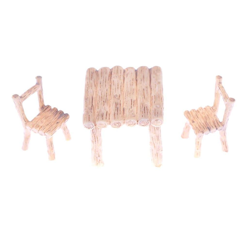 Кукольный домик стол из полиэстера стул миниатюрный ремесло миниатюрный пейзаж столовая игрушечная мебель детский подарок кухонный Декор