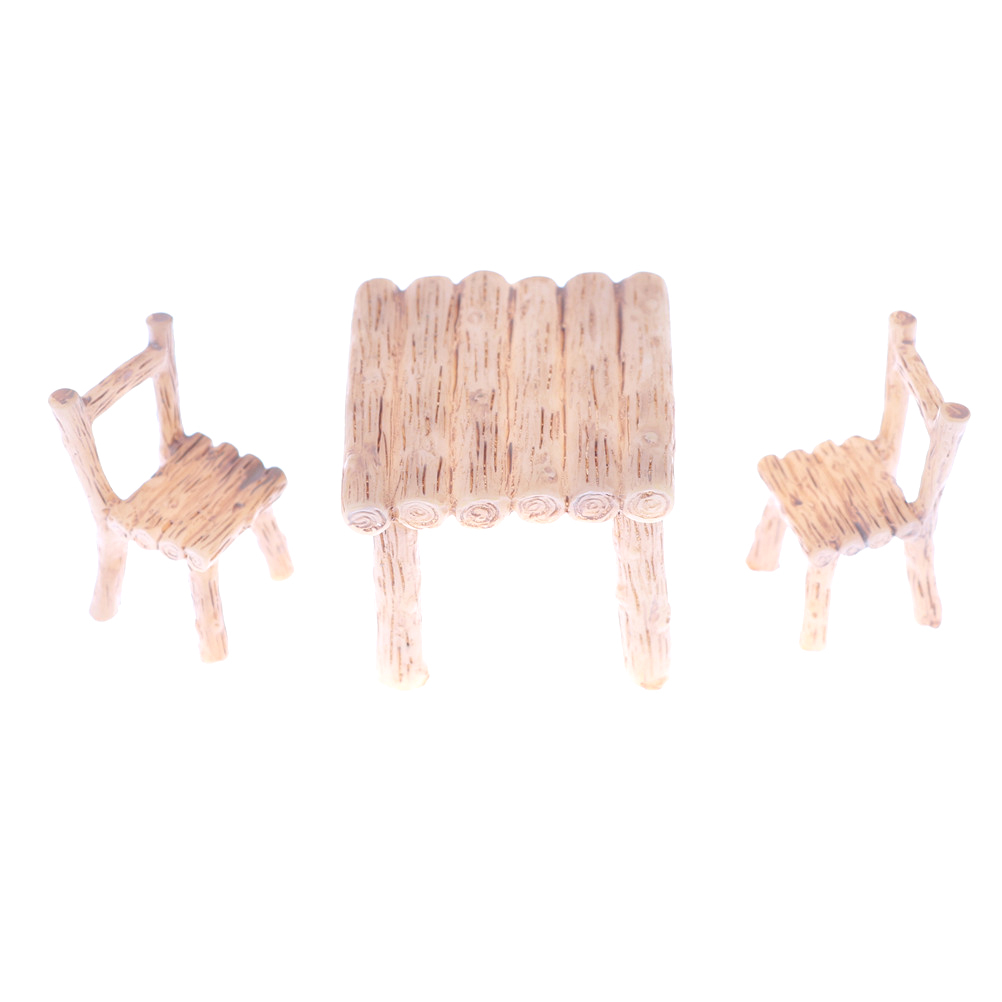 Dollhouse Resin Table Chair Miniature Craft Miniature Landscape Dining Room Furniture Toy Children Gift Kitchen Decor