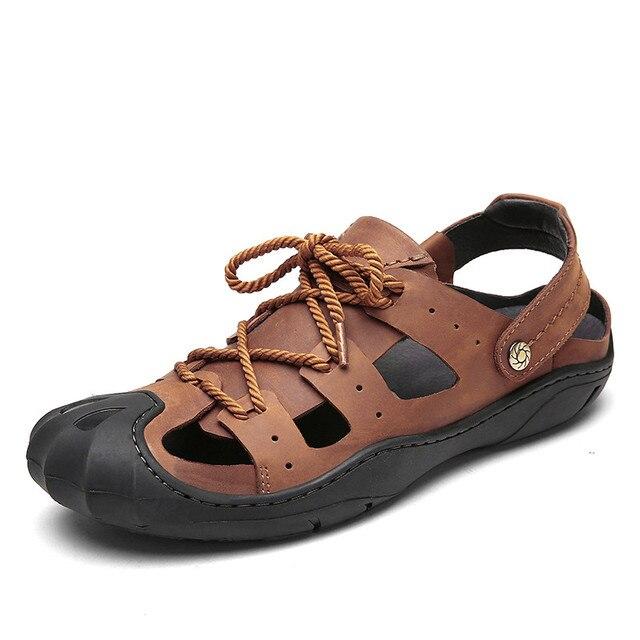 c12b976c3 Красивые летние мужские сандалии Босоножки из натуральной кожи Для мужчин  высокое качество