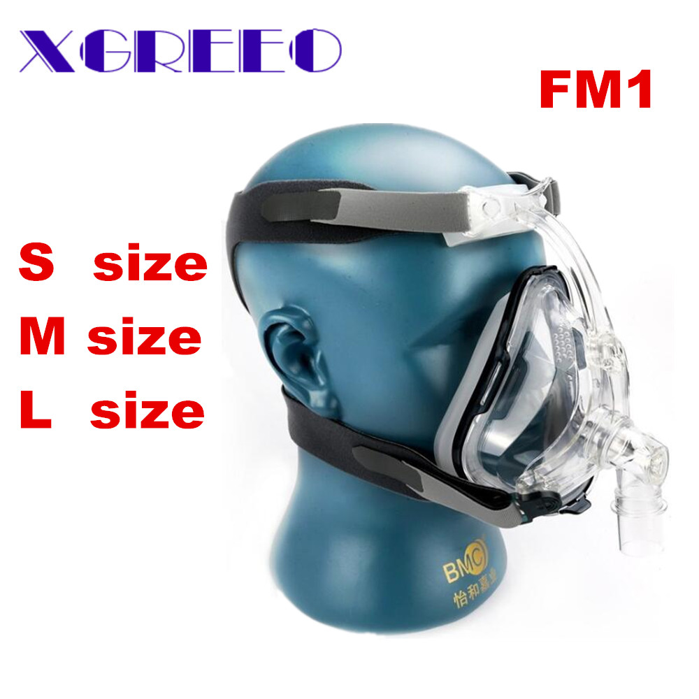BMC XGREEO FM1 Plein Visage Masque Pour Bouche Haleine Du Sommeil Avec Headgrear Taille (S/M/L) CPAP Machine Masque