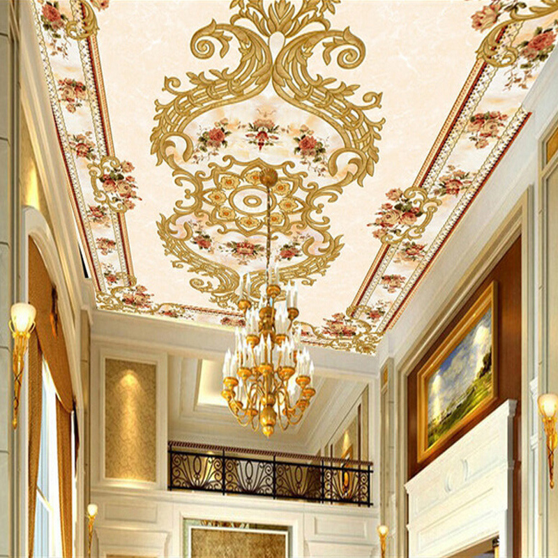 Customize 3D Mural Wallpaper European Style Modern Luxury Ceiling Murals Hotel Hall Bedding Room Backdrop Home Decor Wall Papers