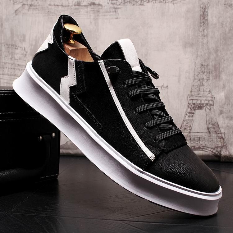 Mezclados Hombres Británico Moda Casual Redonda Negro Para Zapato Colores Calle Punta Encaje Confort Zapatos De Espectáculo Ocio Diseñador Hombre Errfc wCaq5Pp