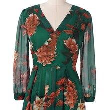 فستان ماكسي طويل من الشيفون المطبوع المبهج