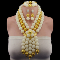 Plastic Pearl Ball 2017 Fashion african beads necklace set nigerian wedding african beads jewelry set Free shipping