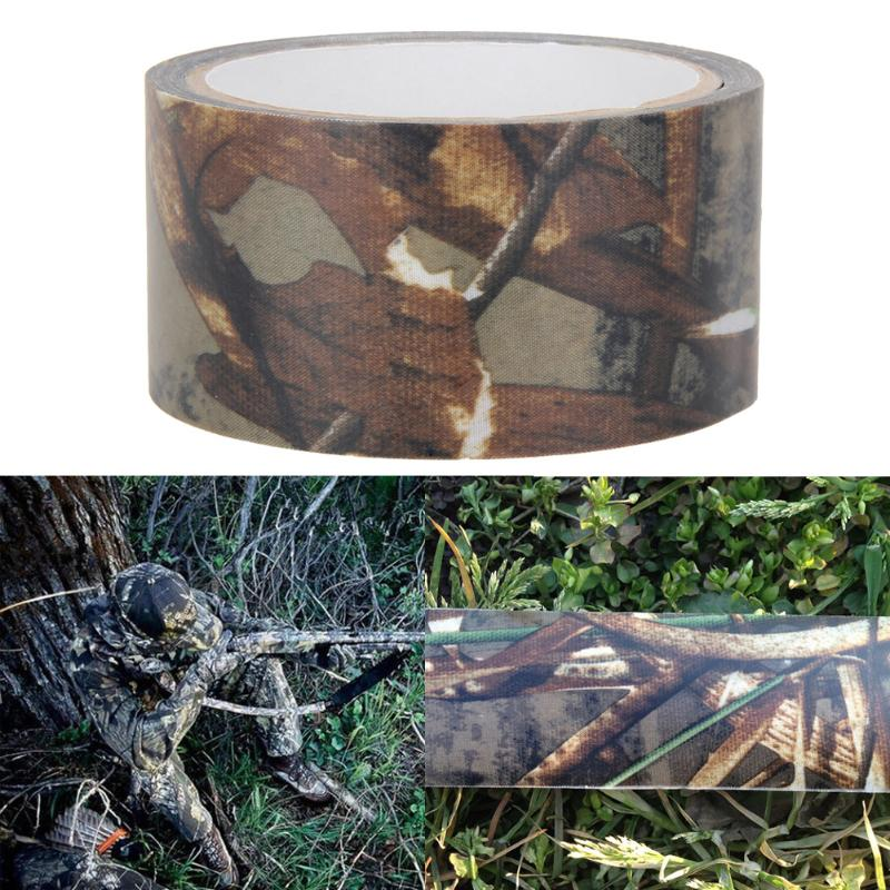 Image 3 - 10m Waterproof Dead Leaves Camo Cloth tape Gun Hunting Outdoor Camping Camouflage Stealth Tape Wrap for Hunting Gun Accessories-in Hunting Gun Accessories from Sports & Entertainment