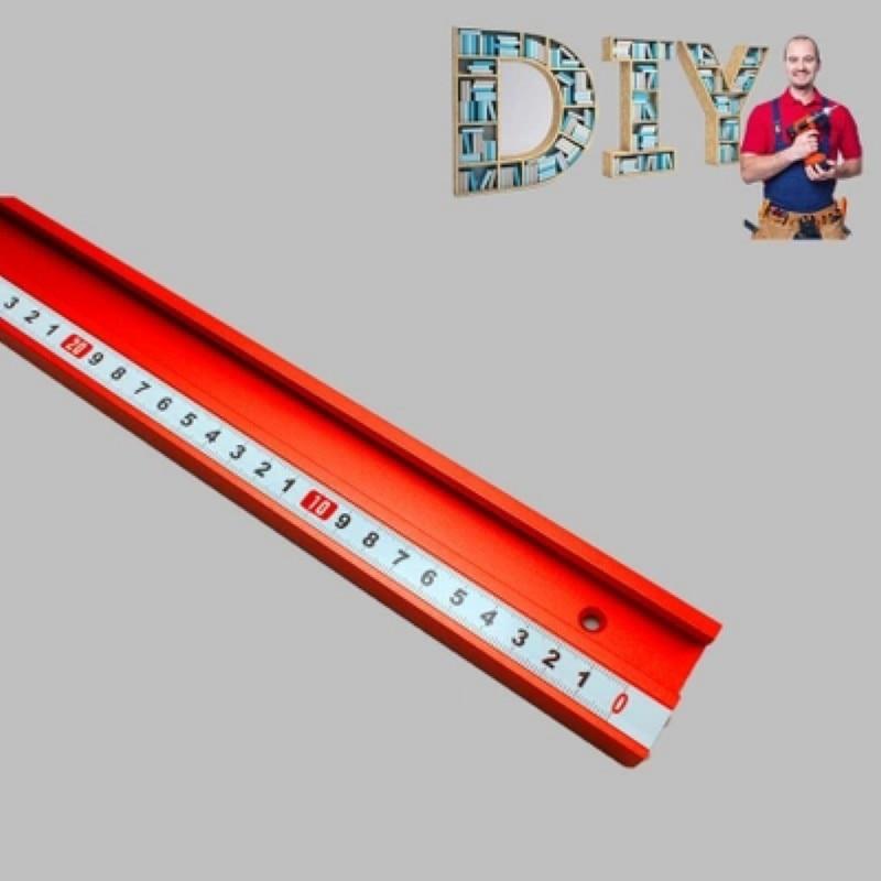 400/600/800MM Universal Aluminium 45mm Track Chute Pusher Electric Circular Saw Flip Table Woodworking DIY Accessories