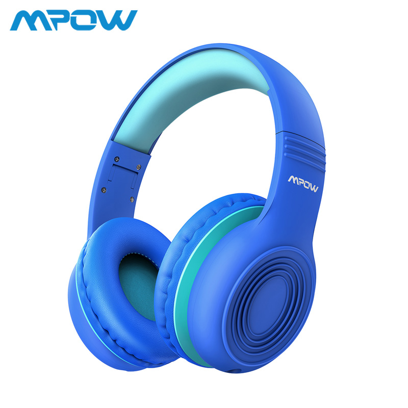 Mpow CH6 Wired Headphones For Kids With Microphone Max 85dB Food Grade Material Over-Ear Kids Headphones For IPad Kindle Phones
