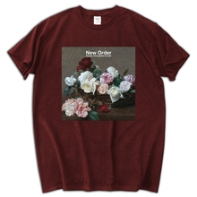 def8402a male funny present New ORDER Power Corruption and Lies Rock Band Men's  White T-Shirt