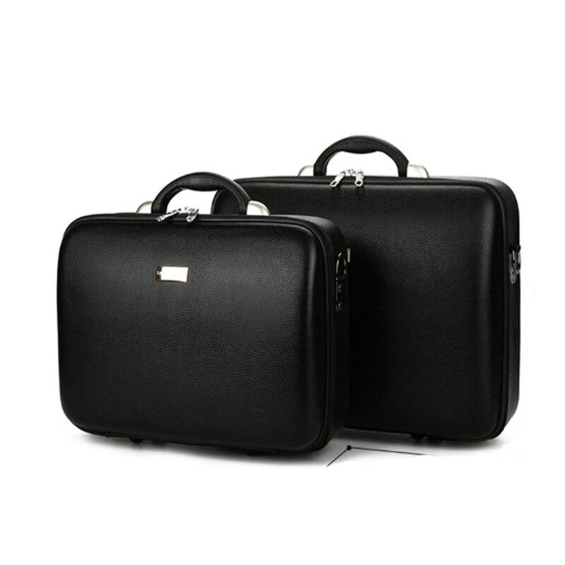 Haute qualité hommes boîte d'affaires mot de passe cas boîte de Document emballage caisse caisse ordinateur cas Hold-all valise en cuir coffre sac