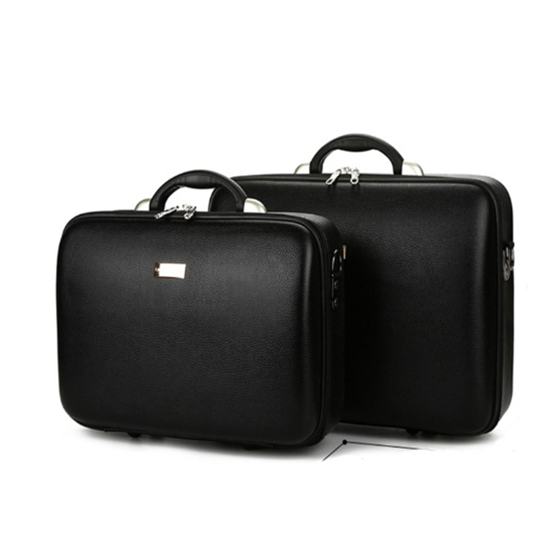 High Quality Men's Business Box Password Cas Document Box Packing Cash Box Computer Cas Hold-all Suitcase Leather Trunk Prop Bag