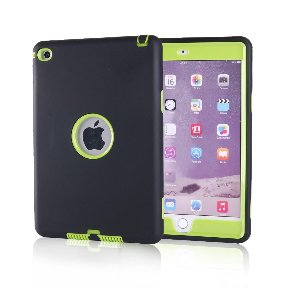 cheaper 32cf0 681db US $17.99  Hybrid Armor Protection Defender Silicon Case For Apple iPad  Mini 4 Cover Case + Screen film + Cloth + Stylus-in Tablets & e-Books Case  ...