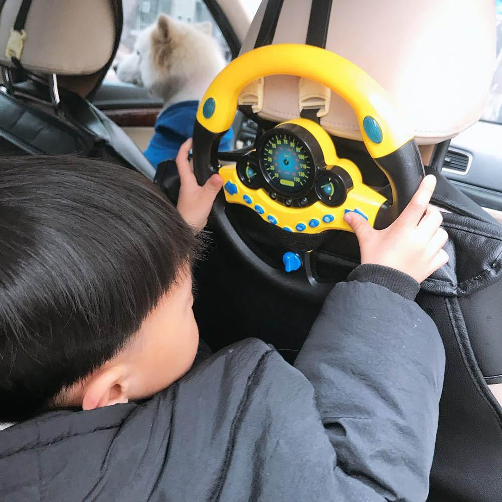 Children's Simulation Small Steering Wheel Copilot Simulated Steering Wheel Early Education Puzzle Sound Toy