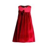 3 12T New Year Girls Dress Velvet Bowknot Sleeveless Wedding Party Dress For Girl Princess Dresses