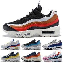 110c4463c95 Envío Gratis nuevo Max 95 hombres zapatos Pull Tab negro marrón azul  pizarra mejor calidad clásico