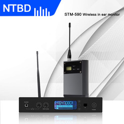 NTBD Stage Performance Sing Hip Hop High Quality Black STM-590 UHF MONO Stereo Professional Wireless In Ear Monitor System
