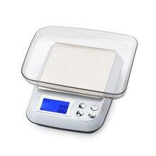 Balance de cuisine numérique LCD 3kg 0.1g, grande plate-forme en acier inoxydable, pour régime alimentaire, ménage, avec plateau