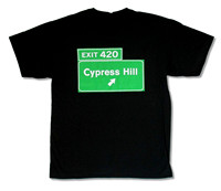 OKOUFEN CYPRESS HILL EXIT 420 BLACK T SHIRT NEW OFFICIAL BAND INSANE IN THE BRAIN Create