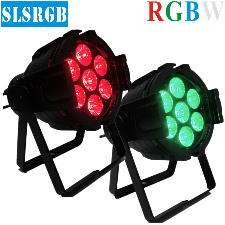 2pcs/lot 7pcs 12W RGBW LED Par Light Dj Lighting DMX 512 DMX Club Wedding KTV Party Lights Stage Lighting Effect for DJ Party 6pcs lot white color 132w sharpy osram 2r beam moving head dj lighting dmx 512 stage light for party