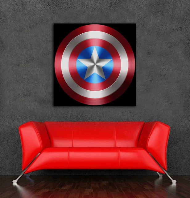 Famous New arrival captain america shield poster stickers on walls decor  TG83