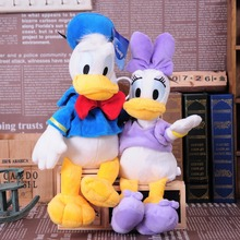 Hot 1pcs selling 3# size plush funny cartoon Donald Duck and Daisy hot selling doll plush toys wedding gifts free shipping