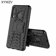 For Samsung Galaxy A60 Case Shockproof Armor Soft PU Silicone Hard PC Phone Cover