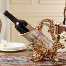Европейский вино рамка роскошные украшения гостиной вход украшен вино рама домашнего интерьера ювелирная смола подарки