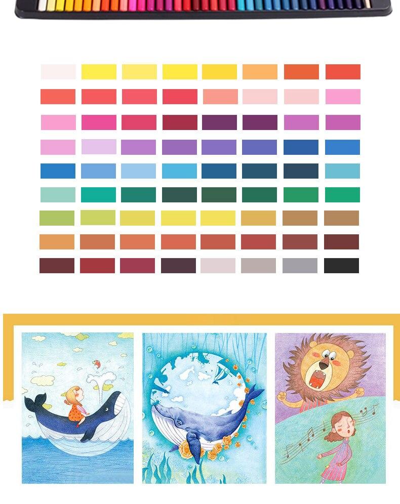 Água cor lápis pintura ferramenta colores conjunto
