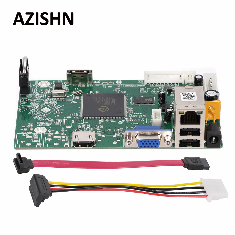 AZISHN FULL HD 1080 P 4CH Sécurité Réseau Conseil Enregistreur 4CH 1080 P/8CH 960 P ONVIF Email Alerte de Détection de Mouvement Mini NVR conseil