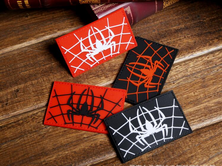 Pvc Spider Morale Paches Military Badge Hook Fastener Tactical Army Swat Airsoft Rubber For Bag Apparel Sewing & Fabric