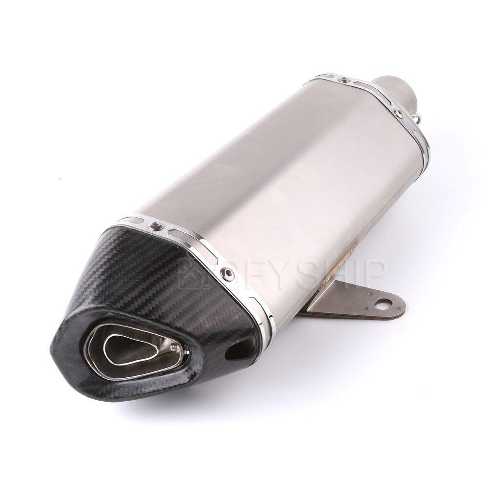 Silencieux d'échappement de Scooter de moto avec le système complet de tuyau de lien d'évasion pour Honda PCX 125 PCX 150 2014-2016 PCX125 PCX150 sans lacet