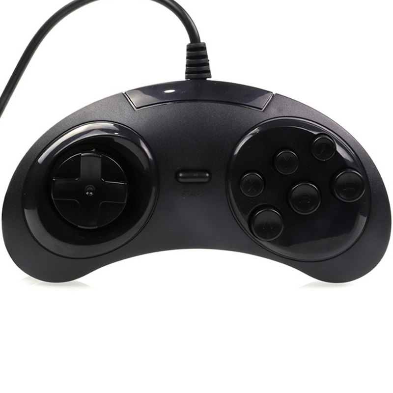 Купить с кэшбэком for SEGA Genesis/MD2 Y1301 USB Gamepad Game Controller 6 Buttons SEGA USB Gaming Joystick Holder for PC MAC Mega Drive Gamepads