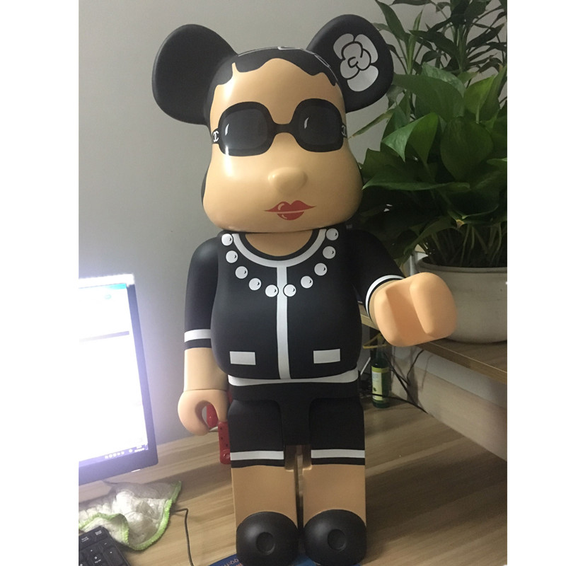 Hot Selling 70cm Bearbrick Luxury Lady CH Be@rbrick PVC Action Figure Collectible Model Toy Birthday gift ornaments hot selling oversize 1000% bearbrick luxury lady ch be rbrick medicom toy 52cm zy503