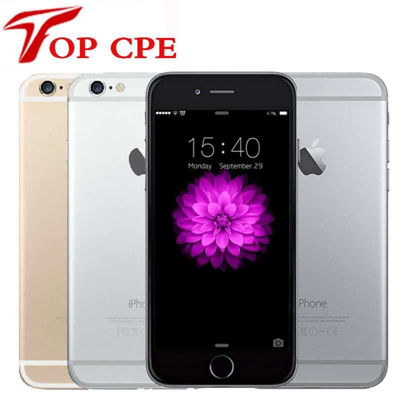 Iphone 6 Unlocked Original Apple iPhone 6 inch 4.7 LTE Mobile Phone 16GB/64GB/128GB IOS Wifi 1080P 8MP Dual Core free glass film(China)