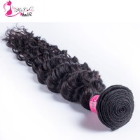 Deep Wave Brazilian Hair Ms Cat Hair 1 Bundle Natural Color 100 Curly Human Hair Weave