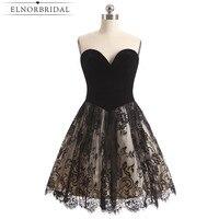 Małe Czarne Sukienki Koktajlowe 2017 Skromna Sukienka Na Studniówkę Sweetheart Lace Robe De Cocktail Noire Dziewczyny Homecoming Dress
