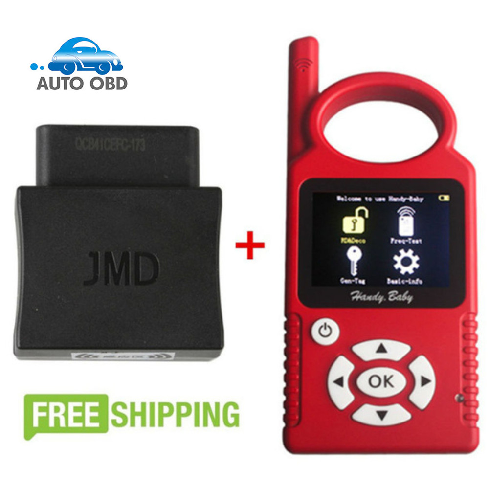 Buy V7.0 Handy Baby Car Key Copy Auto Key Programmer for 4D/46/48 Chips get JMD Assistant Handy Baby OBD Adapter