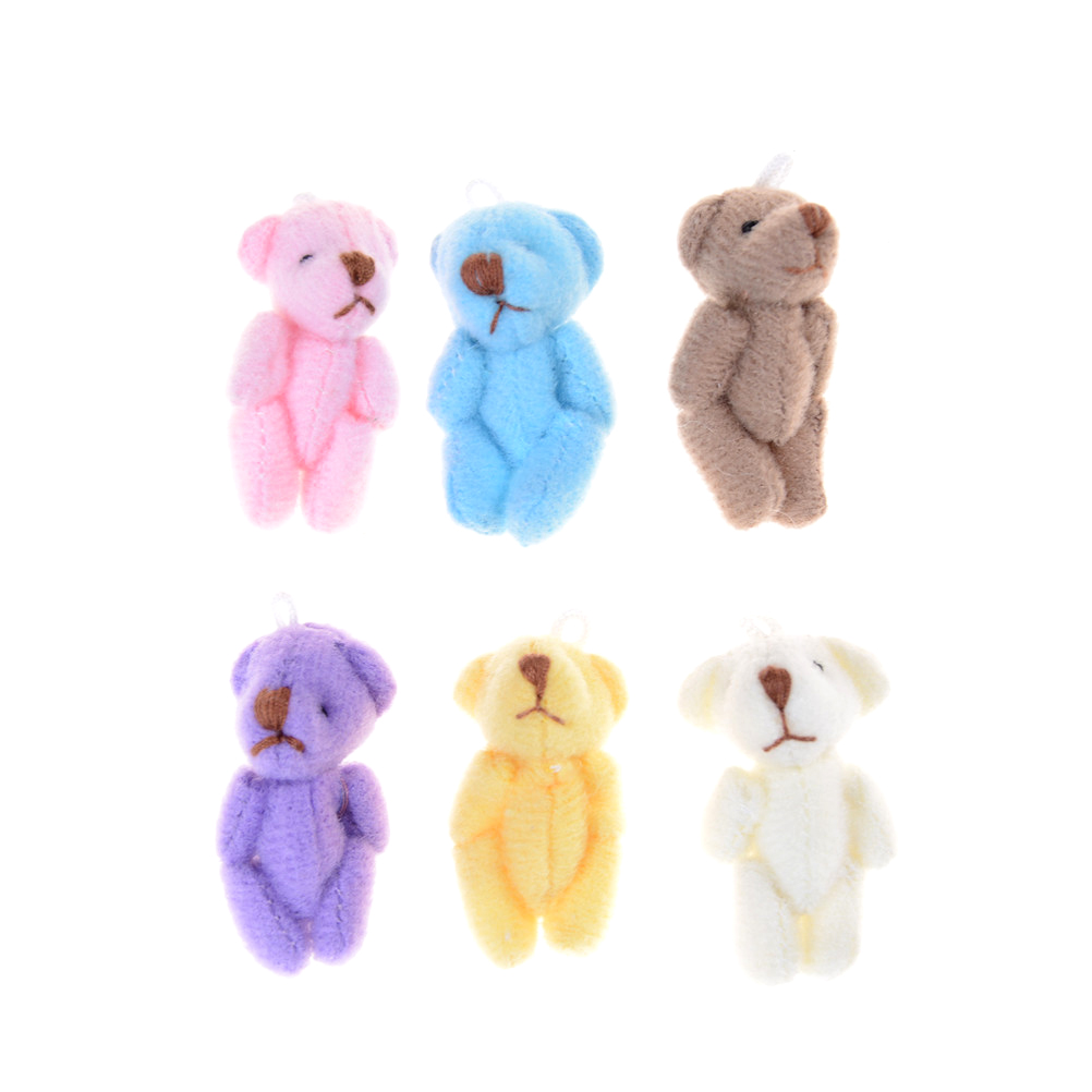 kawaii Teddy Bear Doll Plush Stuffed Keychain Toy Bag Pendant Cute Mini Doll Toys For Children Gift